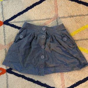 Denim button down mini skirt